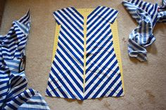 any striped fabric can be sewn into chevron....oooooh.