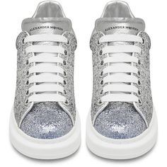 Alexander McQueen Wmns Oversized Low Top Sneaker ($660) ❤ liked on Polyvore featuring shoes, sneakers, alexander mcqueen shoes, oversized shoes, low top, alexander mcqueen and low profile sneakers