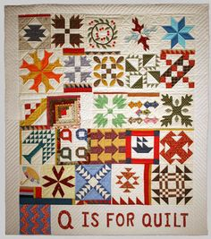 Q is for Quilt quilt: Mary Schafer,Gwen Marston and Joe Cunningham 1987