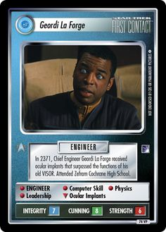 Star Trek Ccg, Star Trek Universe, Collector Cards, First Contact, Timeline, Science Fiction, Leadership, High School, Knowledge