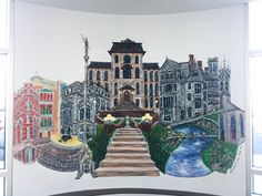 Our Down Town Troy wall mural is finished! A big thanks to Gretchen Louise Tisch and Feathered Antler for doing such an amazing job!