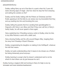 Would have loved this to happen but JK has said no one descended from Vernon Dursley will be able to do magic