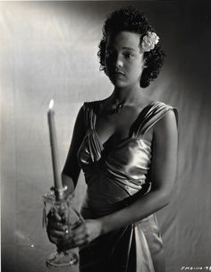 Portrait photograph of actress Dorothy Dandridge in race film, Four Shall Die (1940)*This was one of her earliest film works. *Courtesy of The Paper Gallery