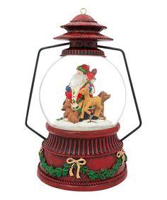 Another great find on #zulily! Red Santa & Forest Animals Music Snow Globe #zulilyfinds