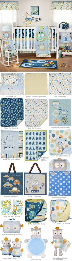 Baby Bot by Living Textiles. This is adorable if my next baby after Kayden is a boy I'm doing something like this :)