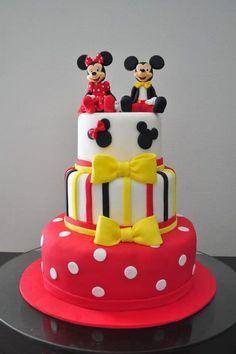 Resultado de imagen para cakes mickey and minnie