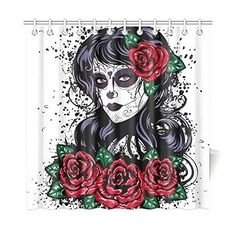 InterestPrint Dia De Dos Muertos Decor,Vintage Sugar Skul...
