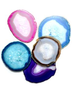 Leif's agate trivets - 5 to 6 inches wide - would make a lovely mobile in the window.