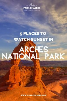 Best Sunset in Arches National Park - Where are the best places to watch sunset in Arches National Park? Find out how to catch a stunning sunset in one of Utah's Big 5 Parks National Park Lodges, National Parks Usa, Arches Park, National Park Passport, Colorado Hiking, Best Sunset, Park Service, Sunset Photos, Travel Usa