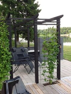 The pergola kits are the easiest and quickest way to build a garden pergola. There are lots of do it yourself pergola kits available to you so that anyone could easily put them together to construct a new structure at their backyard. Diy Pergola, Rustic Pergola, Small Pergola, Pergola Attached To House, Backyard Garden Design, Cheap Pergola, Outdoor Pergola, Pergola With Roof, Backyard Pergola