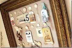 Cute for a shadow box of family heirlooms or trinkets!
