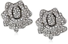 Kenneth Jay Lane Bride Clear Crystal Rose Flower ClipOn Earrings >>> Check this awesome product by going to the link at the image. (This is an affiliate link) #Earrings
