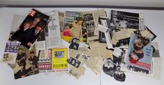 1960's vintage Lot of 160 + Beatles magazine covers articles scrapbook clippings