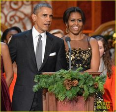 rita ora the obama family ring in the holidays 02 Rita Ora dresses to the nines to sing in front of the President and his family at the TNT Christmas in Washington held at the National Building Museum on Sunday…