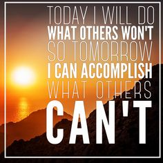 Today I will do what others won't so tomorrow I can accomplish what others can't. -Jerry Rice  Coming Soon - BioOptimal's Organic Turmeric Curcumin Supplement with Black Pepper is USDA organic and non-gmo www.biooptimalsupplements.com *Look for more organic supplements from BioOptimal later this year.   #motivationalquotes #motivation