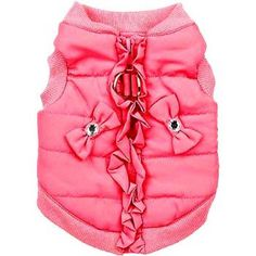 New W/Tags Smoochie Pooch Coral Pink Jeweled Bows Bomber Dog Harness Jacket Coat in Pet Supplies   eBay