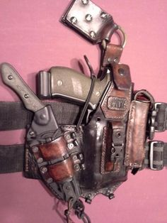 Leather tactical setup drop leg 1911 holster tactical leather
