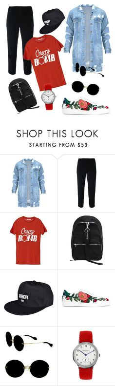 """""""street stlye"""" by e-memagic ❤ liked on Polyvore featuring Chloé, Ganni, DRKSHDW, Givenchy, Gucci and Miu Miu"""
