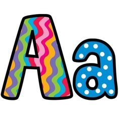Funky and chunky! These Poppin' Pattern Letters have loads of vibrant colourful designs on each letter