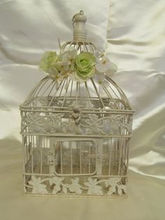 Decorative Birdcage / Shabby Chic Bird Cage by SouthburyTreasures, $45.00
