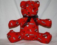 University of Louisville Share-A-Bear - Edit Listing - Etsy Scary Kids, University Of Louisville, Very Scary, Backrest Pillow, Dinosaur Stuffed Animal, Bear, Children, Animals, Etsy