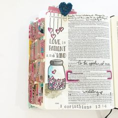 #illustratedfaith 1 Corinthians 13:4 'Love is patient and kind' What a beautiful…