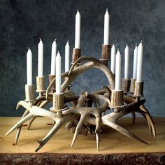 antlers antler chandelier and home depot on pinterest