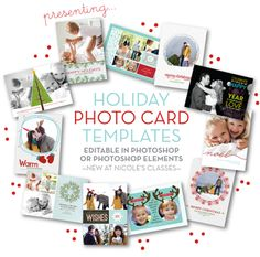 Our brand new templates for your holiday cards this year!