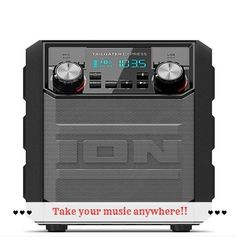 Waterproof ION Audio Tailgater Express Bluetooth Portable Speaker Stereo System #IONAudio