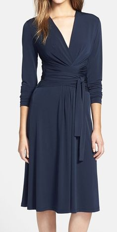 Michael Kors Faux Wrap Jersey Dress @nordstrom  http://rstyle.me/n/ricrvnyg6