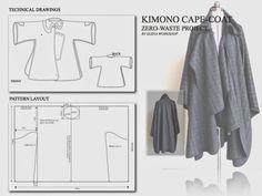 Elena Fashion Design Workshops : Zero-Waste, Kimono Cape-Coat