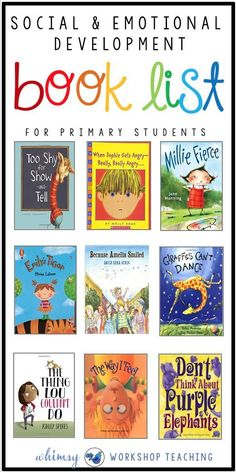 Teaching social emotional concepts in the primary classroom is so much easier with great books! Here's a list of the books I use to discuss big emotions, conflict resolution, anger management and kindness! Social Skills Activities, Teaching Social Skills, Teaching Emotions, Sequencing Activities, Group Activities, Teaching Art, Teaching Ideas, Social Emotional Development, Social Emotional Learning