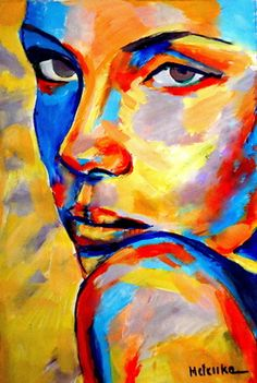 "#Art #Faces -Saatchi+Online +Artist +Helena+Wierzbicki;+Painting,+""""Come+to+me""""+#art http://www.ablankcanvas.net                                                                                                                                                                                 More"