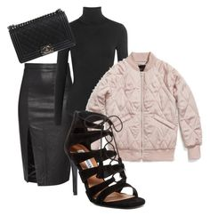 """""""Night on the Town"""" by filthyriot on Polyvore featuring Wolford, Coach, Steve Madden and Chanel"""
