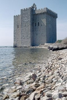 Fortified Abbey Ile Saint Honorat France by Nickophoto, via Flickr