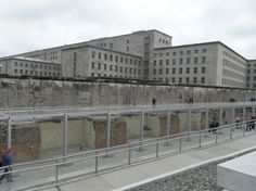 Topography of Terror exhibit..an inside and outside museum and exhibition.  Gestapo HQ Prinz Albrecht StraBe #8 stood during the war.  The basement cells have been excavated and are part of the exhibit.  Victims of the Gestapo and the SS were tortured and imprisoned in them.  http://www.topographie.de/en/exhibitions/z/0/