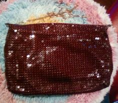 Vintage Glomesh branded slouchy handbag with long chain strap in the rare colour maroon. This little lovely was bought for $6.00
