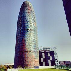 Barcelona's Torre Agbar (Architect: Jean Nouvel)Plaça de les Glories