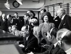 King George VI and Queen Elizabeth visit the BBC