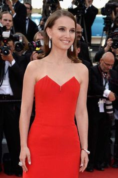 Natalie Portman in Dior at the opening ceremony at the Cannes Film Festival, May 2015.