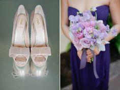 Purple wedding flower inspiration via Grey Likes Weddings