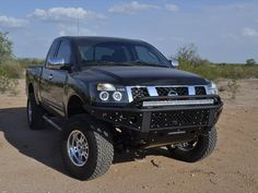 Custom front bumper for the Nissan Titan built by ADD Offroad