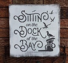 Check out our nautical decor selection for the very best in unique or custom, handmade pieces from our wall hangings shops. Lake House Signs, Cottage Signs, Lake Signs, Beach Signs, Christmas Lyrics, Christmas Signs, Mothers Day Signs, Dock Of The Bay, Nautical Signs