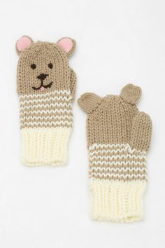 Animal Mitten want! Knit Mittens, Mitten Gloves, Knit Crochet, Crochet Hats, Sewing To Sell, Christmas Stocking Stuffers, Baby Hats Knitting, Textiles, Small Gifts