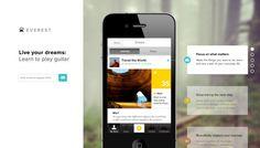 Everest - Web design inspiration from siteInspire