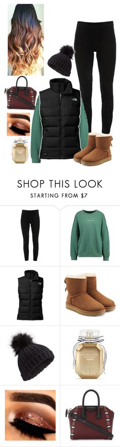 """""""A lil bit of Winter❄️☃️⛄️"""" by mrssavannahstyles ❤ liked on Polyvore featuring Elie Tahari, The North Face, UGG, Miss Selfridge, Victoria's Secret, Givenchy, fashionset, thanksgiving and winteroutfit"""
