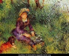 madame with a dog Pierre Auguste Renoir art for sale at Toperfect gallery. Buy the madame with a dog Pierre Auguste Renoir oil painting in Factory Price. Mary Cassatt, Pierre Auguste Renoir, Post Impressionism, Impressionist Art, August Renoir, William Wegman, Renoir Paintings, Paul Cézanne, Arte Dachshund