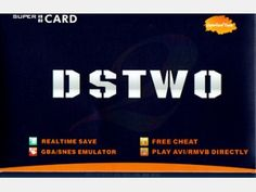 SuperCard DS TWO - Slot 1 flash cart for Nintendo DS/DSL/DSi/3DS, Micro SD HC