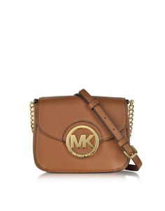 9027192d8bcd Michael Kors Fulton Luggage Leather Small Crossbody Bag at FORZIERI