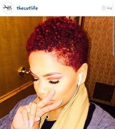 785 Likes, 23 Comments - Pixie Cut Short Curly Hair, Short Hair Cuts, Curly Hair Styles, Short Natural Styles, Short Styles, Tapered Natural Hair, Natural Hair Twa, Pelo Afro, Love Hair